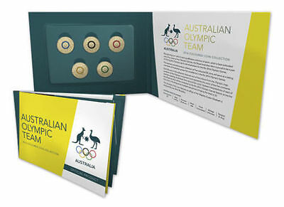 2016 $2 Australian Olympic Team Coloured Coin Set Collection  UNC
