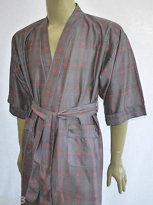 RECLAIMED AUTHENIC 70's VINTAGE DRESSING GOWN ROBE SMOKING JACKET KIMONO M-L VGC