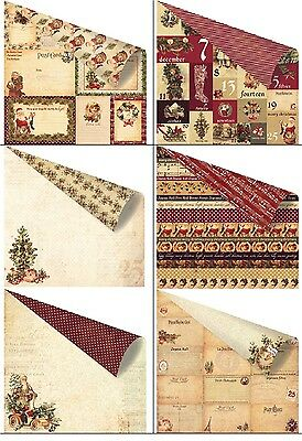 Prima Marketing Victorian Christmas Double-Sided Cardstock versch.Motive 30,5 cm
