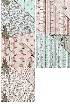 "Fabscraps Shabby Rose Double-Sided Cardstock 12""X12"" versch. Motive 30,5x30,5 cm"