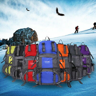50L Large Outdoor Backpack Hiking Bag Camping Mountaineering Travel Rucksack AU