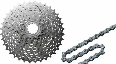 Shimano HG400 9 Speed MTB Hybrid Bike Cassette & Deore HG53 116 Link Chain Deal
