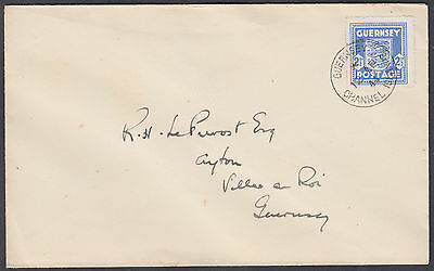 1944 Guernsey Occupation 'Arms' 2 1/2d blue FDC (see 'Arms on envelope flap)