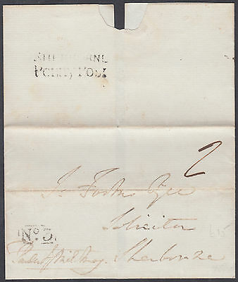 1832 Sherbourne Penny Post (CAT £40) on Wrapper; also boxed 'No. 3'; Dorset