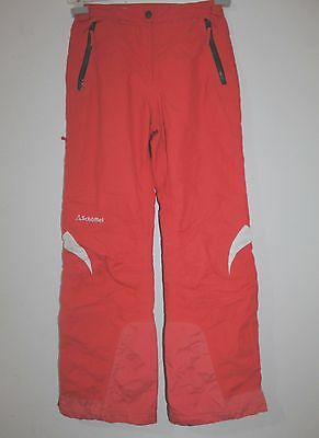 Womens SCHOFFEL GORE TEX RECCO Trousers Pant Red INSULATE Ski Snow Mountain L