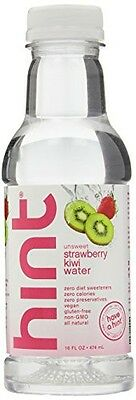 Hint Premium Essense Water, Strawberry Kiwi, 16 Ounce Bottles (Pack of 12)