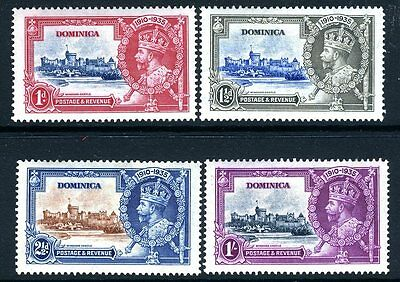 DOMINICA-1935 Silver Jubilee Sg 92-5  MOUNTED MINT V13894
