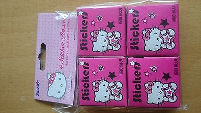 14 x hello kitty sticker box girls party bag filler