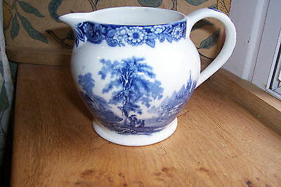 Vintage Allertons blue and white jug, Kenilworth