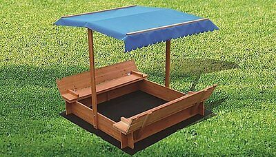 Kids Wooden Toy Sandpit with Canopy | $200 + Freight Charges