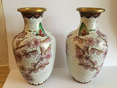 Japanese Cloisonne Pair Of Vase In Perfect Condition