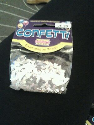 Wedding table confetti 4 bags champagne toast