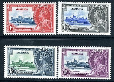 JAMAICA-1935 Silver Jubilee Sg 114-7 LIGHTLY  MOUNTED MINT V13911
