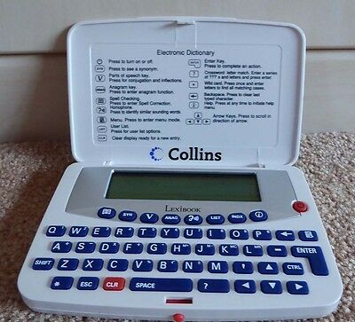 Collins Lexibook Electronic Dictionary Dl601Gb