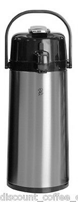 Newco 120818 Koffee by the Kup Airpot 2.2L Stainless Finish Lever Style