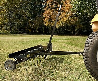 Brinly Tow Behind Dethatcher Grass Clippings Dead Roots Lawn Garden 40 Inch new