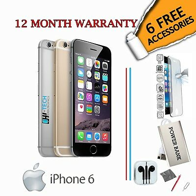 Apple iPhone 6 128GB - Gold /Silver /Grey - Unlocked To All Networks Smartphone