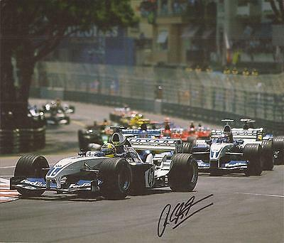 Formula One * Ralf Schumacher Signed 10X8 Action Book Picture+Coa