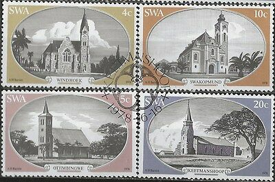 SOUTH WEST AFRICA 1978 Sc#419-22 CHURCHES COMPLETE USED SET 2151