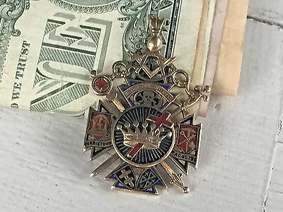Huge Antique Masonic 14K Gold Large Medal Dated May 10-1920 24 Grams  40.9X30Mm
