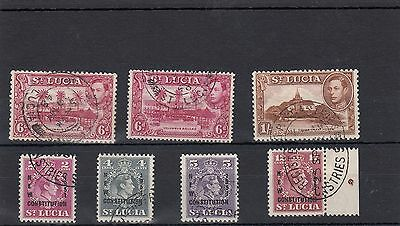 St.lucia. 7 --G6 Used Stamps On Stockcard