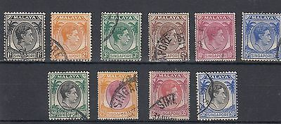 """Malaya.10 -- G6 """" Singapore """" Used Defin Stamps On Stockcard"""