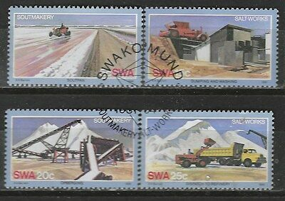 SOUTH WEST AFRICA 1981 SALT MAKING INDUSTRY Sc#483-6 COMPLETE USED SET 2043
