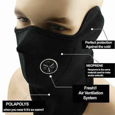 Neoprene Half Face Mask Snowboard Snow Winter Cold Ski Sled Facemask One Size