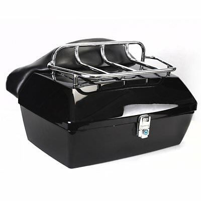 XL Motorcycle Top Box Trunk Luggage Case Release Tail Rack Backrest 48L UK STOCK