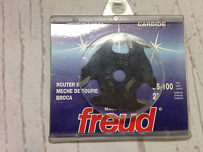 """Freud Router Bit 2"""" Three Wing Slotting Cutter 56-100 Industrial Carbide"""
