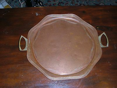 Arts And Crafts Brass And Copper Tray.