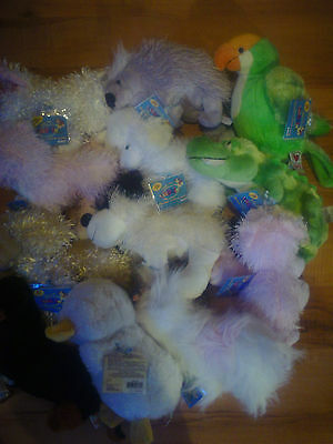 Lot Of 13 Used Webkinz Stuffed Animals Toys  Without Code Tags.codes Are Used