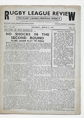 Rugby League Review 1953 Leeds Widnes St Helens England Australia Halifax Leigh