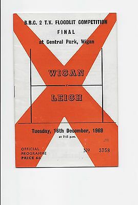 Wigan V Leigh 1969 Bbc 2 Tv Floodlit Final Rugby League England