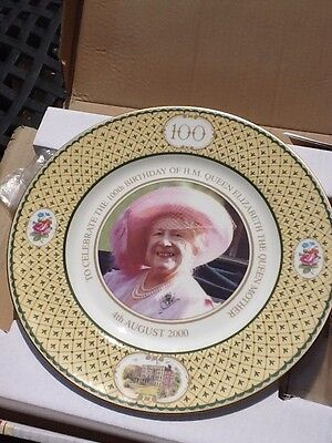 """Collector Royal Plate Queen Mothers 100th Birthday Aug 2000 10"""""""