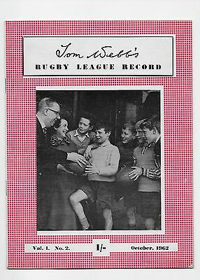 Rugby League Record 1962 Albert Rosenfield Huddersfield Australia England