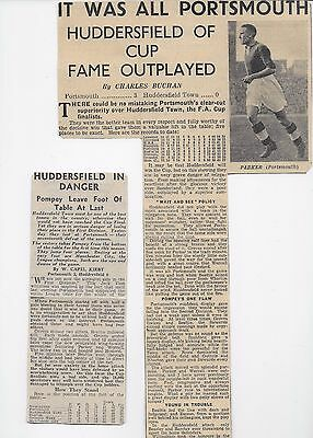 Portsmouth V Huddersfield Town 1938 News Reports England Fa Cup