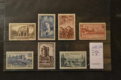 France timbres n°388-394 neufs * mlh