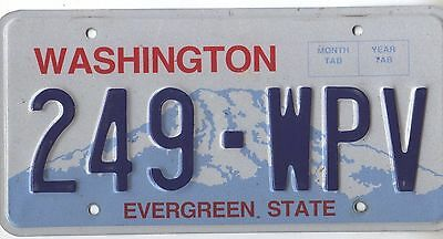 Washington Undated Graphic License Plate 249-Wpv $9.99 No Reserve!