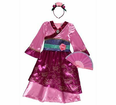 George Disney Princess Mulan Fancy Dress Outfit Book Day Costume