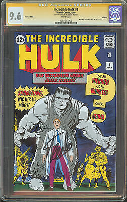 Incredible Hulk #1 CGC 9.6 NM+ W SIGNED STAN LEE REPRINT Incredible Hulk #1