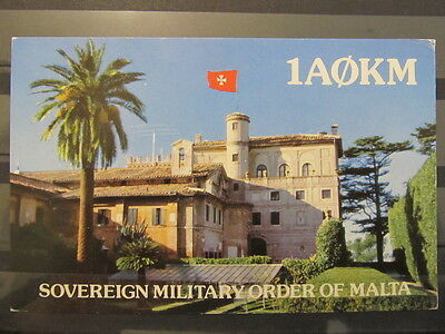 3975 QSL Card Sovereign Military Order of Malta