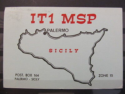 3956 QSL Card Palermo Italy