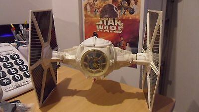 Vintage Star Wars Tie Fighter Imperial White 1978 - Tested and Working