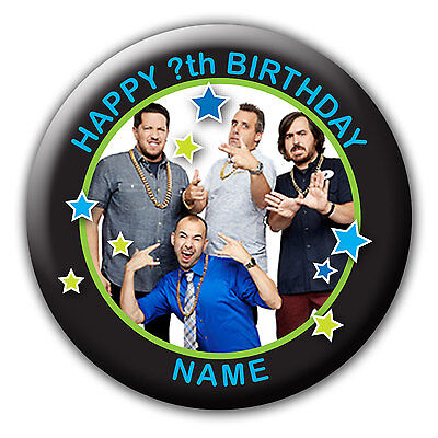 Personalised Impractical Jokers Birthday Badge Fridge Magnet Mirror