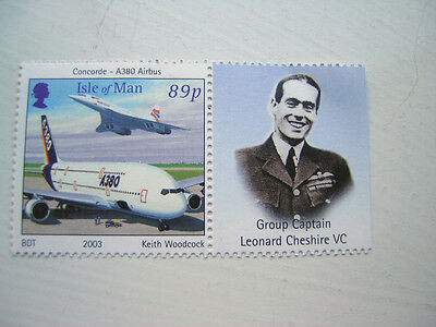 Concorde & A380 Airbus Isle of Man MNH Aviation stamp (2003)