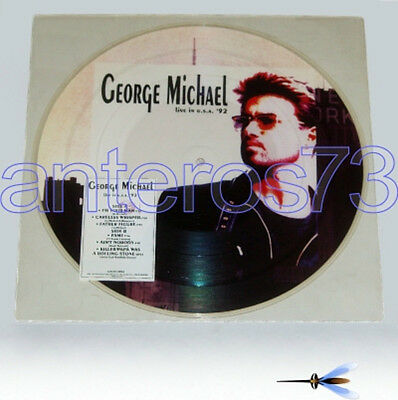 """George Michael """"live In U.s.a. 92"""" Rare Picture Disc Italy - Mint"""