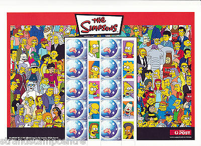 2005 - The Simpsons - Australia Post Smilers Sheet