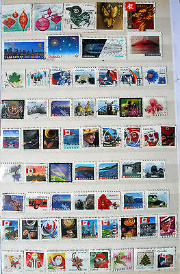 Great Collection Of Different Used Canadian Stamps.
