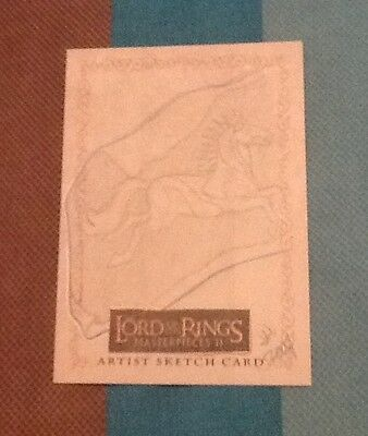 Lord Of The Rings Masterpieces Ii Artist Hand Drawn Sketch Trading Card 1/1 !